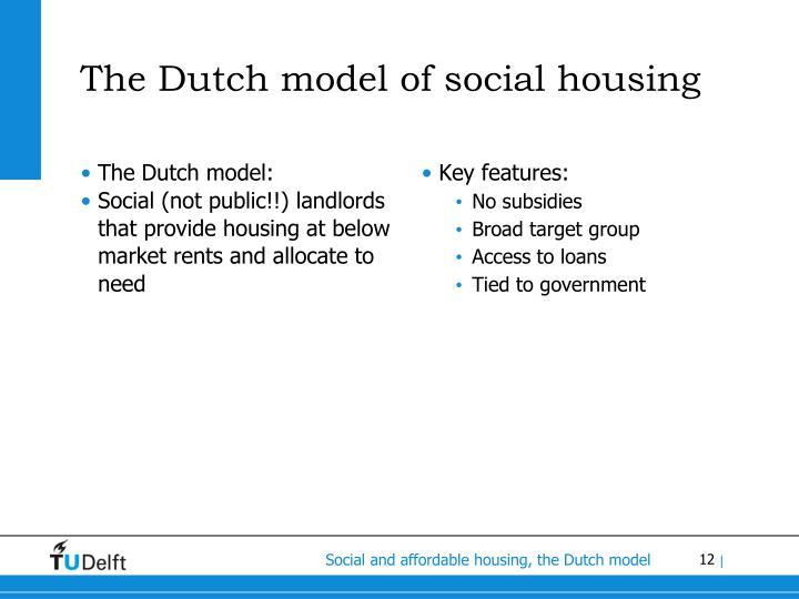 The Dutch model of social housing