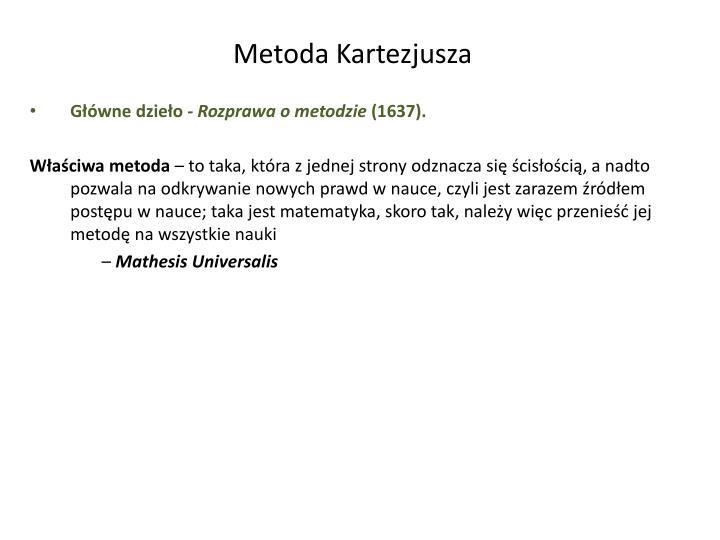 Metoda Kartezjusza