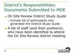 district s responsibilities documents submitted to mde2