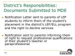 district s responsibilities documents submitted to mde4