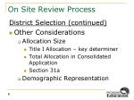 on site review process1