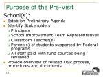 purpose of the pre visit2