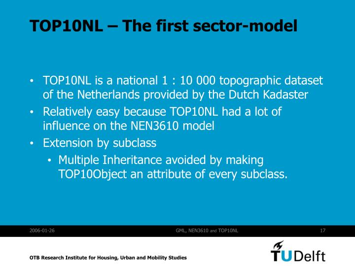 TOP10NL – The first sector-model
