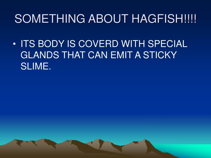 SOMETHING ABOUT HAGFISH!!!!