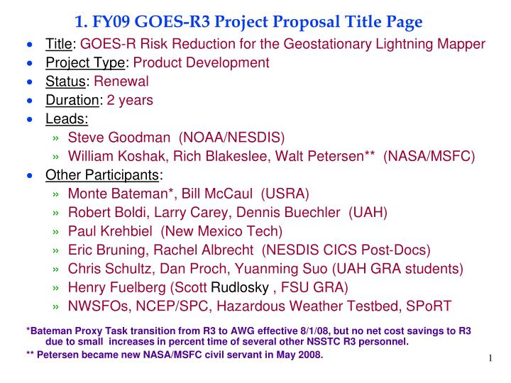 1 fy09 goes r3 project proposal title page n.
