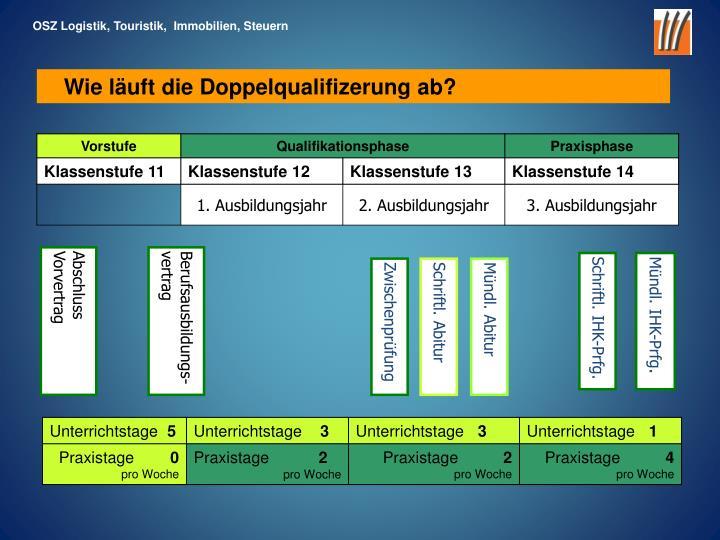 OSZ Logistik, Touristik,  Immobilien, Steuern