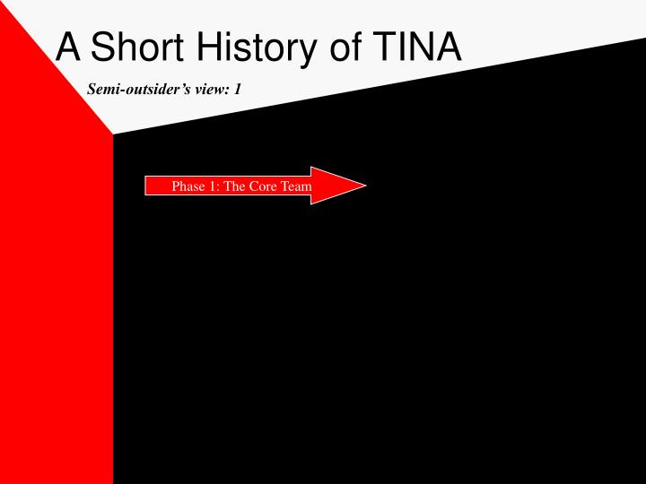A Short History of TINA