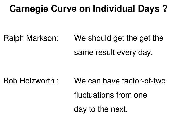 Carnegie Curve on Individual Days ?