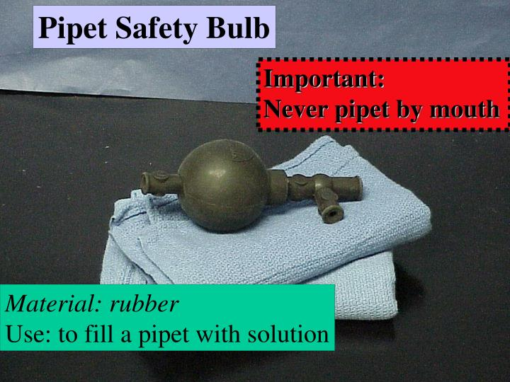 Pipet Safety Bulb