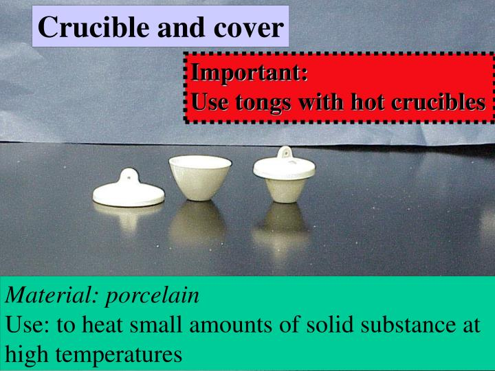 Crucible and cover