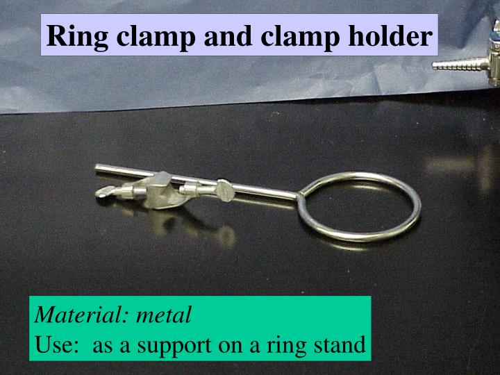 Ring clamp and clamp holder