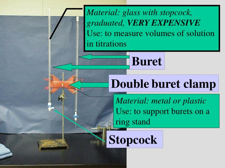 Material: glass with stopcock,