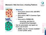 mismatch web services x hosting platform