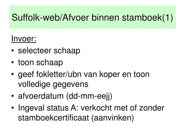 Suffolk-web/Afvoer binnen stamboek(1)