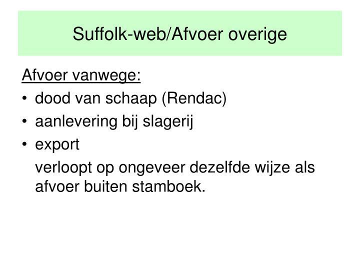 Suffolk-web/Afvoer overige