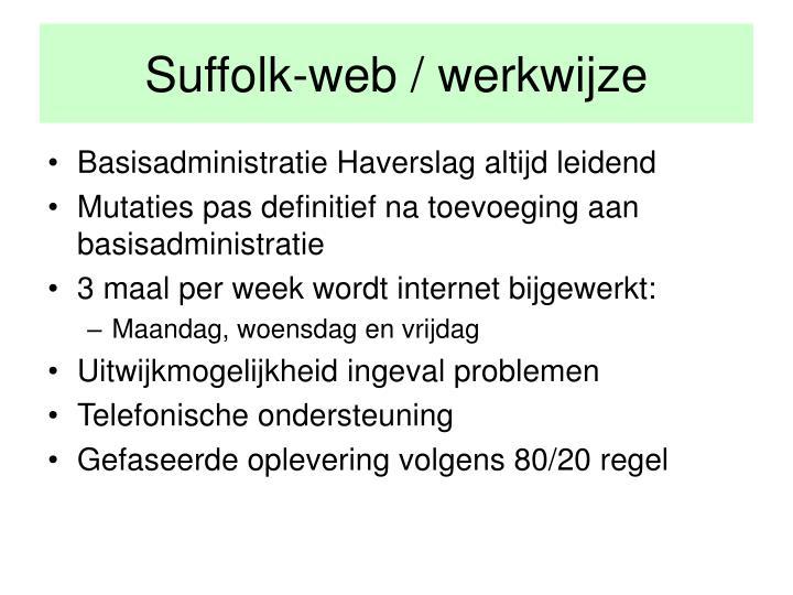 Suffolk-web / werkwijze