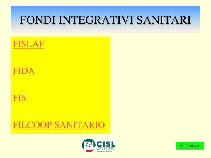 Fondi integrativi sanitari
