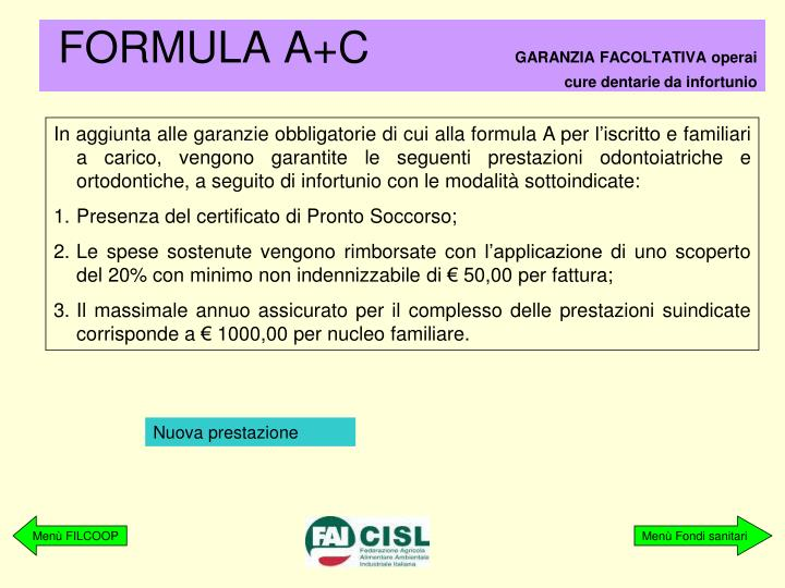 FORMULA A+C