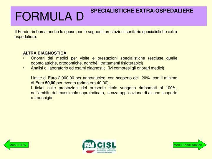 SPECIALISTICHE EXTRA-OSPEDALIERE