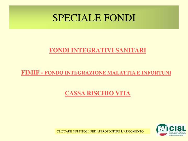 Speciale fondi