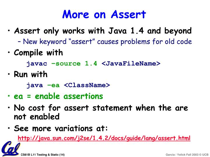 More on Assert
