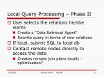 local query processing phase ii