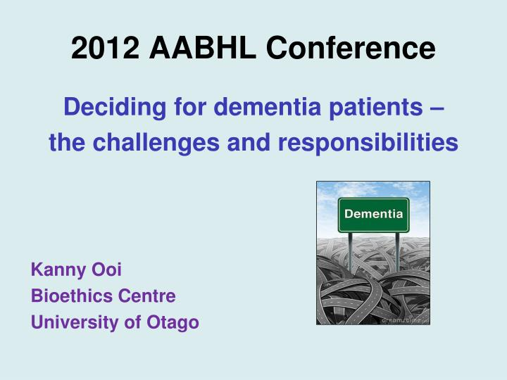 2012 aabhl conference