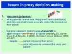 issues in proxy decision making