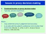 issues in proxy decision making4
