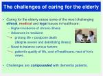 the challenges of caring for the elderly