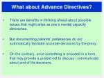 what about advance directives