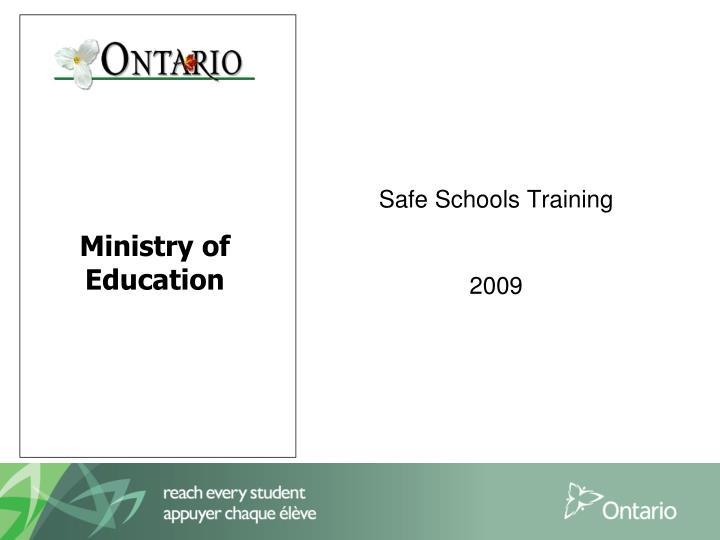safe schools training 2009 n.