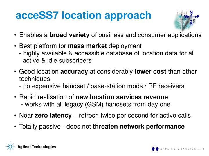 acceSS7 location approach