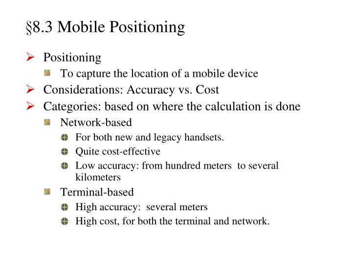 §8.3 Mobile Positioning