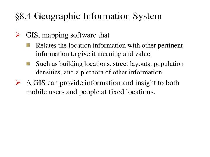 §8.4 Geographic Information System