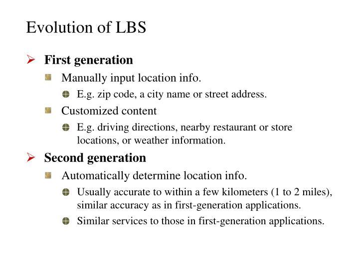 Evolution of lbs