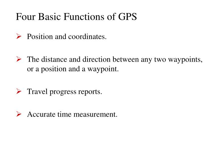 Four Basic Functions of GPS