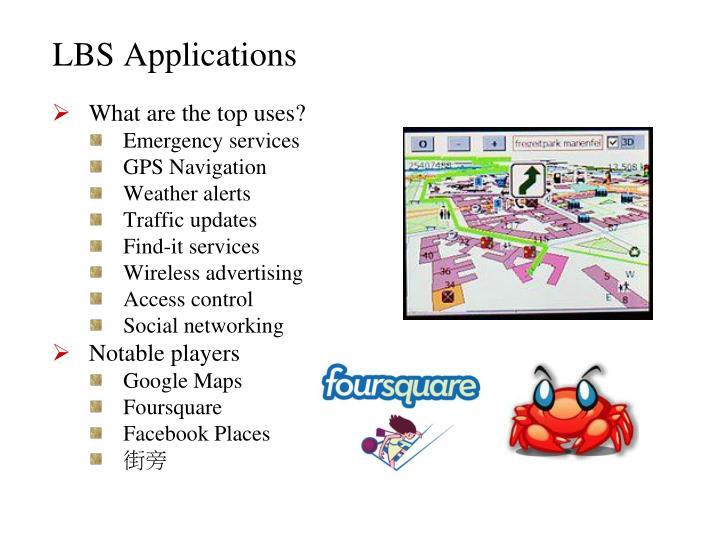 LBS Applications