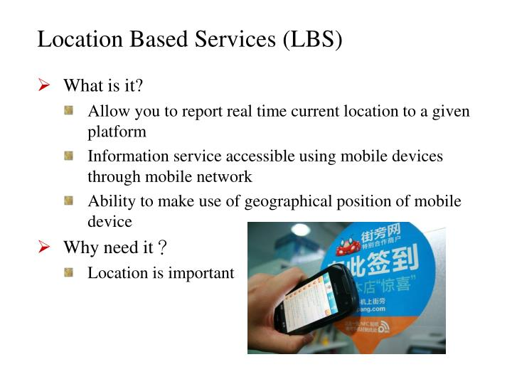 Location based services lbs