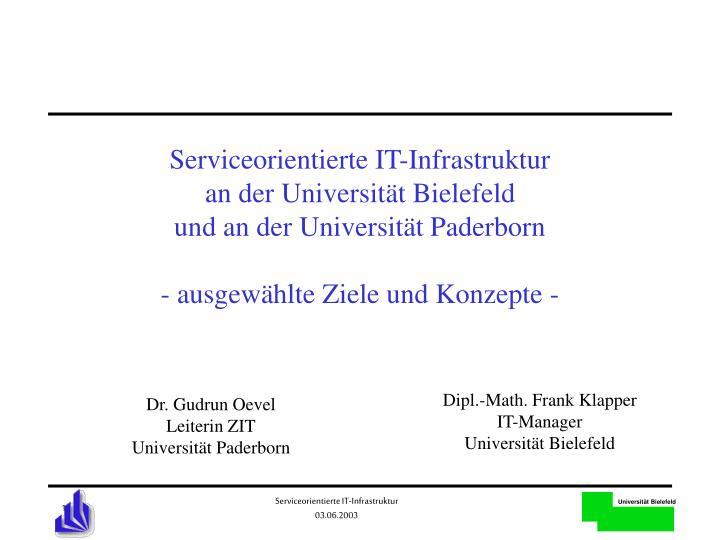 Serviceorientierte IT-Infrastruktur