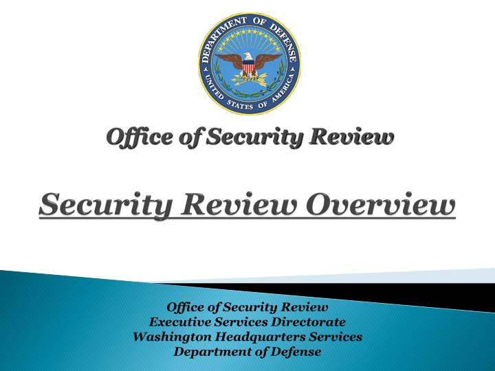 security review overview n.