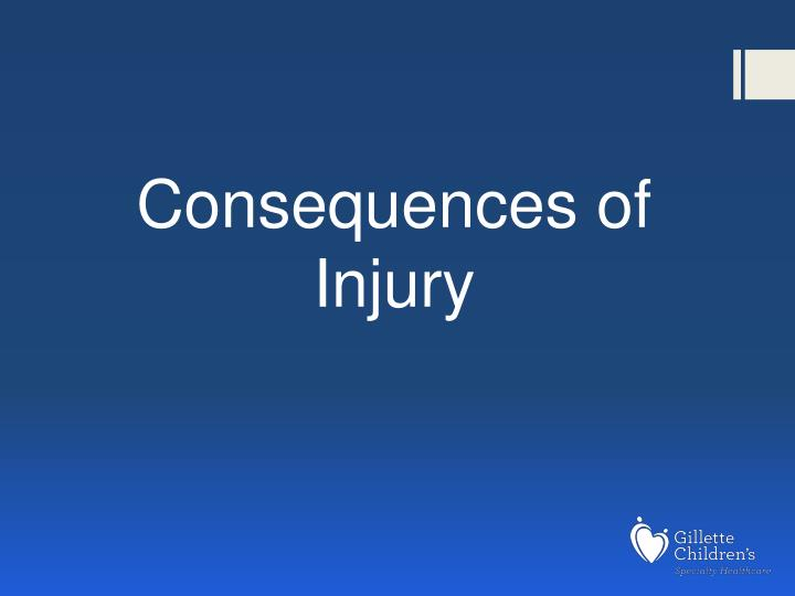 Consequences of Injury