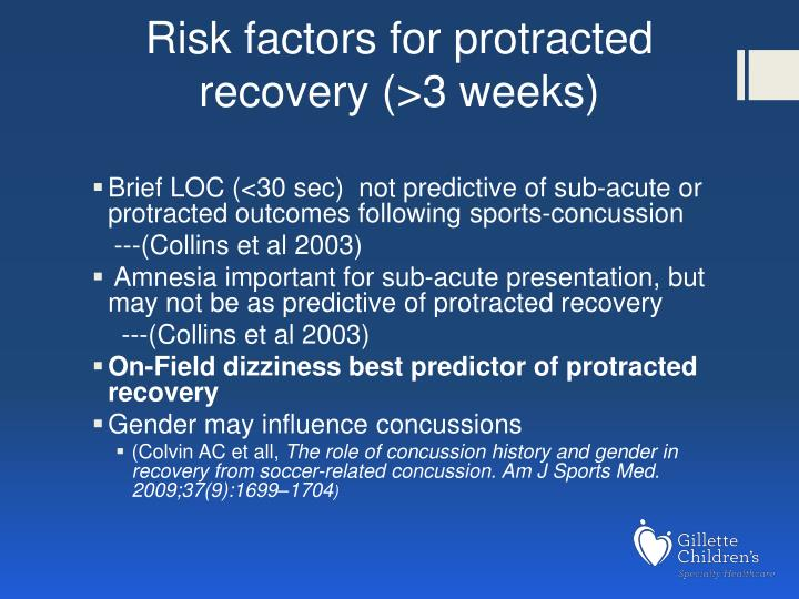 Risk factors for protracted