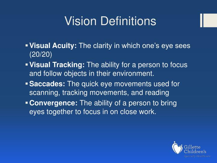 Vision Definitions