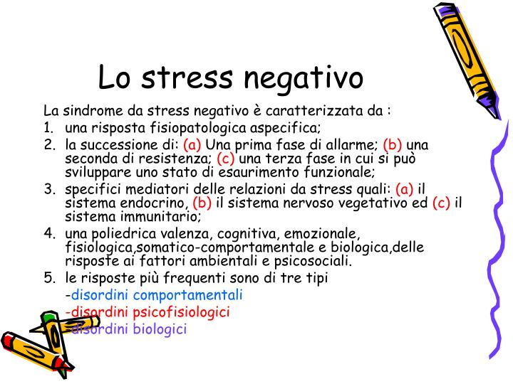 Lo stress negativo