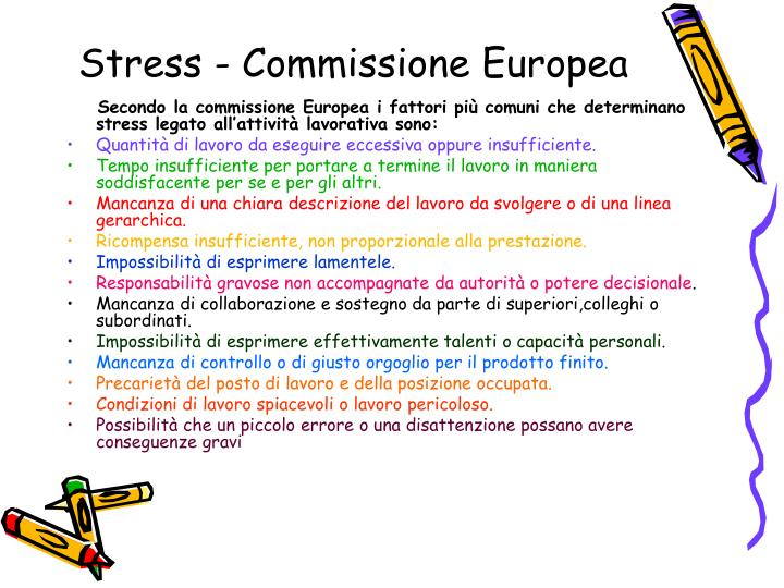 Stress - Commissione Europea