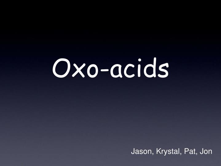 oxo acids