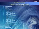 stop watch vhdl decorder