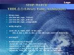 stop watch vhdl library entity architecture