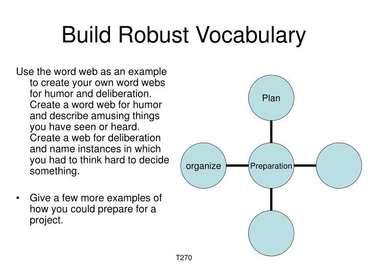 Build Robust Vocabulary